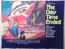 Day Time Ended, Original UK Quad Poster, FLYING SAUCERS vs DINOSAURS! '79